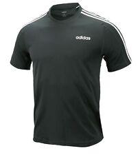 Adidas Men D2M 3S Shirts S/S Training Dark-Gray Jersey Tee Casual Shirt Du1259