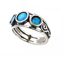 Designer Silver - Handmade Aviv range - Opal three stone ring.