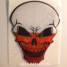 Sticker Flag Poland Skull Adhesive Decal Resin Domed Car Moto Tablet 3D