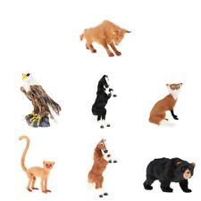 Lifelike Simulation Plush Zoo Animals Model Figurine Kids Science Nature Toys
