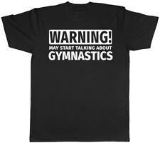 Warning May Start Talking about Gymnastics Mens Womens T-Shirt