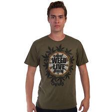 Smoke Weed Live Longer Cooyah Rasta T Shirt Rastafari 100% Cotton Jamaica CY