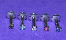 8 o 6 mm x 1.2 mm Internamente Filettato 2 mm Chiaro Cristallo Labret Monroe Labbro Bar