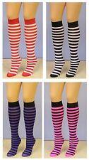 Leg Avenue Striped Knee High Socks Referee Football Roller Derby Fancy Dress