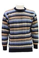 Maglione da uomo a righe Svevo girocollo manica lunga casual lana