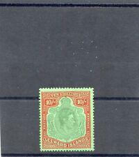 LEEWARD IS  Sc 114 (SG 113)**F-VF NH 1938 10SH PERF 14, CHALKY PAPER $800