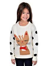 RWB Children's Meowy Christmas Sweater Off-White