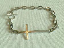 Unisex Sideways Cross Bracelet
