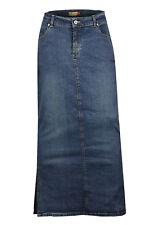 Clove long ankle length maxi stretch denim pencil skirt plus size16 18 20 22 24