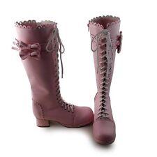 pink sweet lolita stiefel boots Schuhe high heel lovely barock cute goth damen