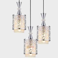 Modern Simple Crystal Iron Ceiling Light LED Pendant Lamp Dining Room Chandelier