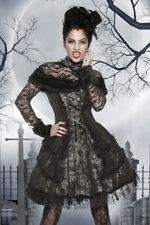 Premium Vampirkostüm Vampir Kostüm Graf Dracula Gothic Kleid Petticoat Vampiress