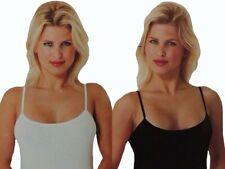 2 4 6 8 10 -er Set mujer camiseta interior tirantes finos Negro Blanco gr.36-58