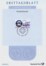 BRD 2007: Wankelmotor! Ersttagsblatt der Nr 2582 mit Bonner Sonderstempel! 1612
