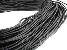 Lederschnur (ab 0,48€/m) Rund 3 mm. Schwarz. Lederband. Länge: wählbar