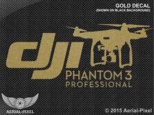DJI Phantom 3 Professional Gold White Black or Red Window / Case Decal Sticker