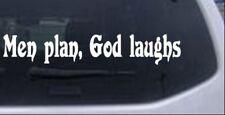 Men Plan God Laughs Car or Truck Window Laptop Decal Sticker