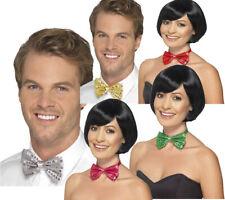 Sequin Bow Tie Mens Ladies Showgirl Fancy Dress Accessory