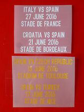 Matchdetail 2016 für Trikot Spanien for shirt jersey Spain para jersey España