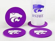 Kansas State Wildcats Coaster Set 4 Football NCAA Licensed Sports DRINK FAN