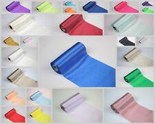 Satin Tischläufer Rolle Band Tischband Satinstoff Stoff 12cm*9m Viele Farben Neu