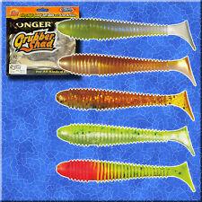 Fishing Soft Lures Bait Shad 12cm 5' 12g Jig Head Sea Ripper Twister Pike Kopyto