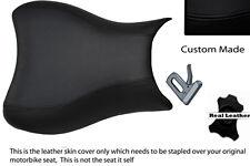 BLACK CUSTOM 07-08 K7 K8 FITS SUZUKI GSXR 1000 LEATHER FRONT SEAT COVER