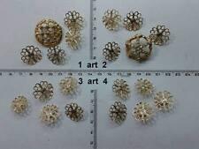 lotto bottoni gioiello filigrane bagno oro plated buttons boutons vintage g2