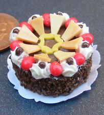 Torta con glassa cioccolato DOLLS HOUSE miniatura nc67d