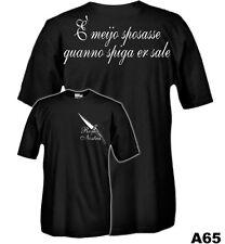 T-Shirt history A65 Roma Nostra - E' mejo sposasse quanno spiga er sale