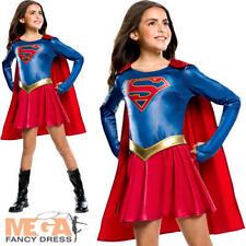 Supergirl RAGAZZE SUPEREROE Costume FUMETTO Giorno Per Bambini Costume Nuovo