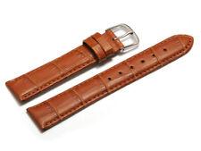 Uhrenarmband Leder Kroko Prägung hellbraun 8,10,12,14,16,18,20,22 mm NEU