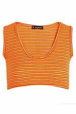 Ladies Womens Sleeveless Rihanna Stripes Strappy Bralet Bra Casual Vest Crop Top