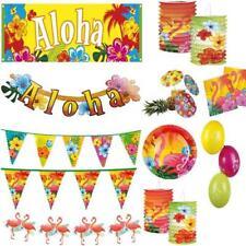 Hawaii Flamingo Party Beachparty Deko Wimpelketten Girlanden Teller Servietten