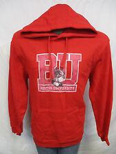 Boston University Terriers Distressed Print Red Hooded Sweatshirt NCAA