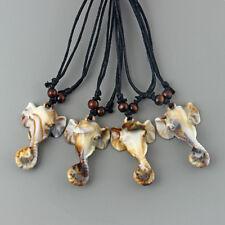 Wholesale Lots 1/12pcs tribal style faux yak bone elephant head pendant necklace