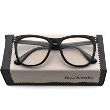 Blue Light Filter Block UV Transparent Lens Vintage Computer Glasses Reading New