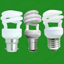 6 x 9W CFL a risparmio energetico Mini Spirale Lampadine; BC,B22,SBC,B15,ES,E27