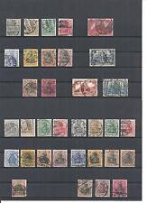Deutsches Reich 1900 - 1918, komplette Sätze/Einzelmarken aus MiNrn: 53 - 104 o