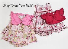 Baby Vestido Set 4PS Dulce Elegancia encogiéndose de hombros Pantalones diadema floral Rosa Estilo Español