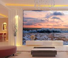 3D Evening Sea Waves 476 Wall Paper Wall Print Decal Wall AJ WALLPAPER CA