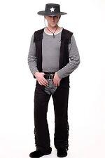 Men's Costume Wild West Cowboy Gunslinger Sheriff L081 Size S/M L/XL