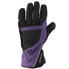 Rayven Diamond Ladies Leather Waterproof Motorbike Motorcycle Gloves Purple