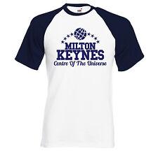 Milton-Keynes - Centre Of The Universe - retro short sleeve baseball t shirt