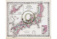 Colton's Japan MAP © 1855 : Nippon, Kiusiu, Sikok, Yesso, Kuriles Reprint