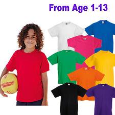 Kids T-Shirt Blank Plain School PE Uniform Top Boys or Girls Cotton, Summer,New.