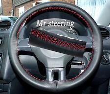 Si adatta VW Golf MK6 ITALIANO Volante in Pelle Nera Cover Rosso Stitch 2008-2012