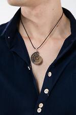 Natural Madagascar Sea Nautilus Ammonite Fossil Gemstone Pendant For Necklace