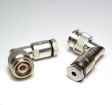 2x TNC HF Winkel-Stecker, vergoldeter Pin, MIL Qualität, Speciality 24P129-1
