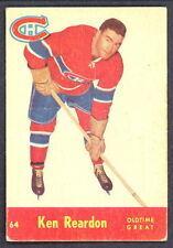 1955 56 PARKHURST HOCKEY 64 KEN REARDON VG-EX MONTREAL CANADIENS OTG CARD